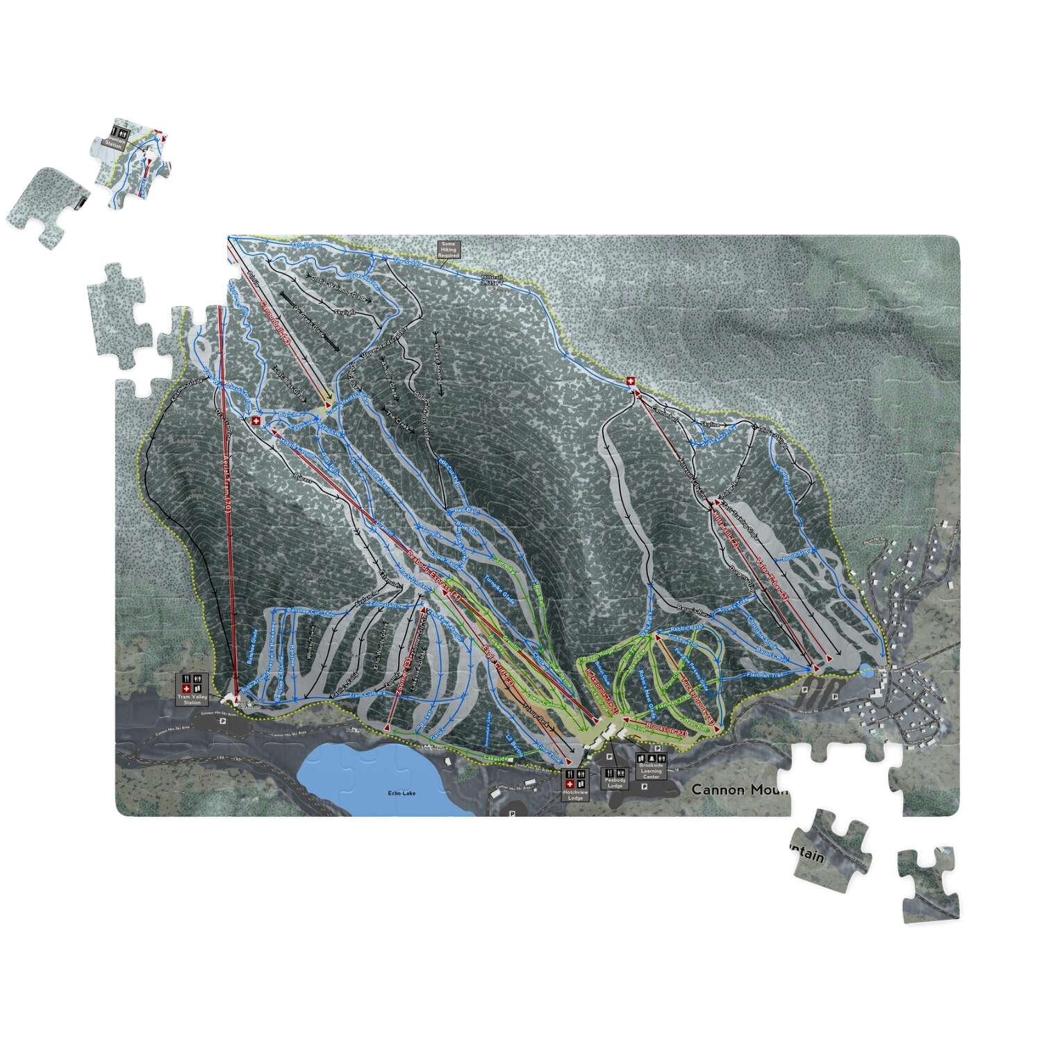 Cannon Mountain New Hampshire Ski Resort Map Puzzles