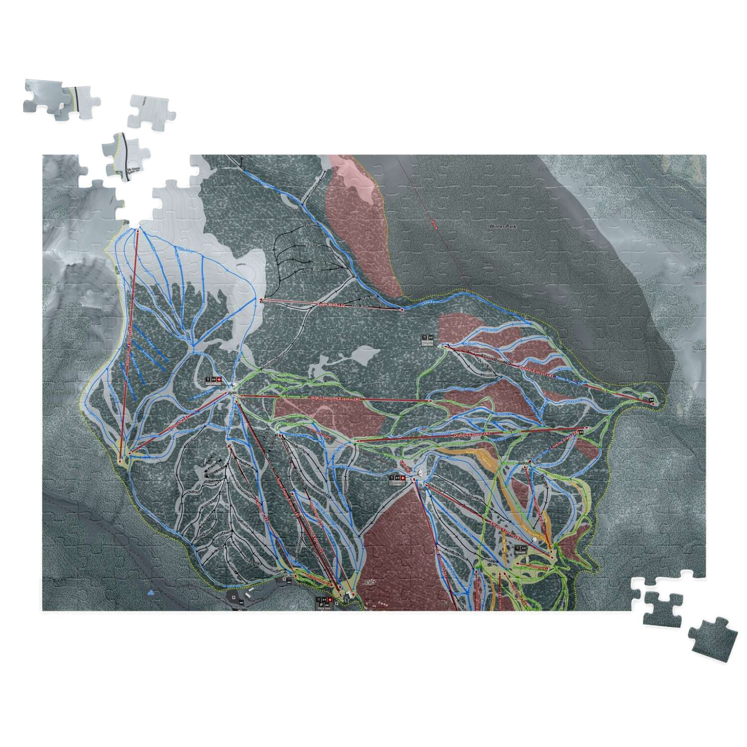 WinterPark, Colorado Ski Resort Map Puzzles