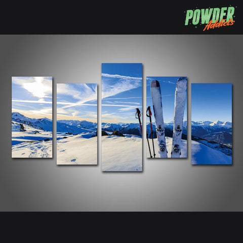 Skier's Playground 5 Piece Canvas - Powderaddicts
