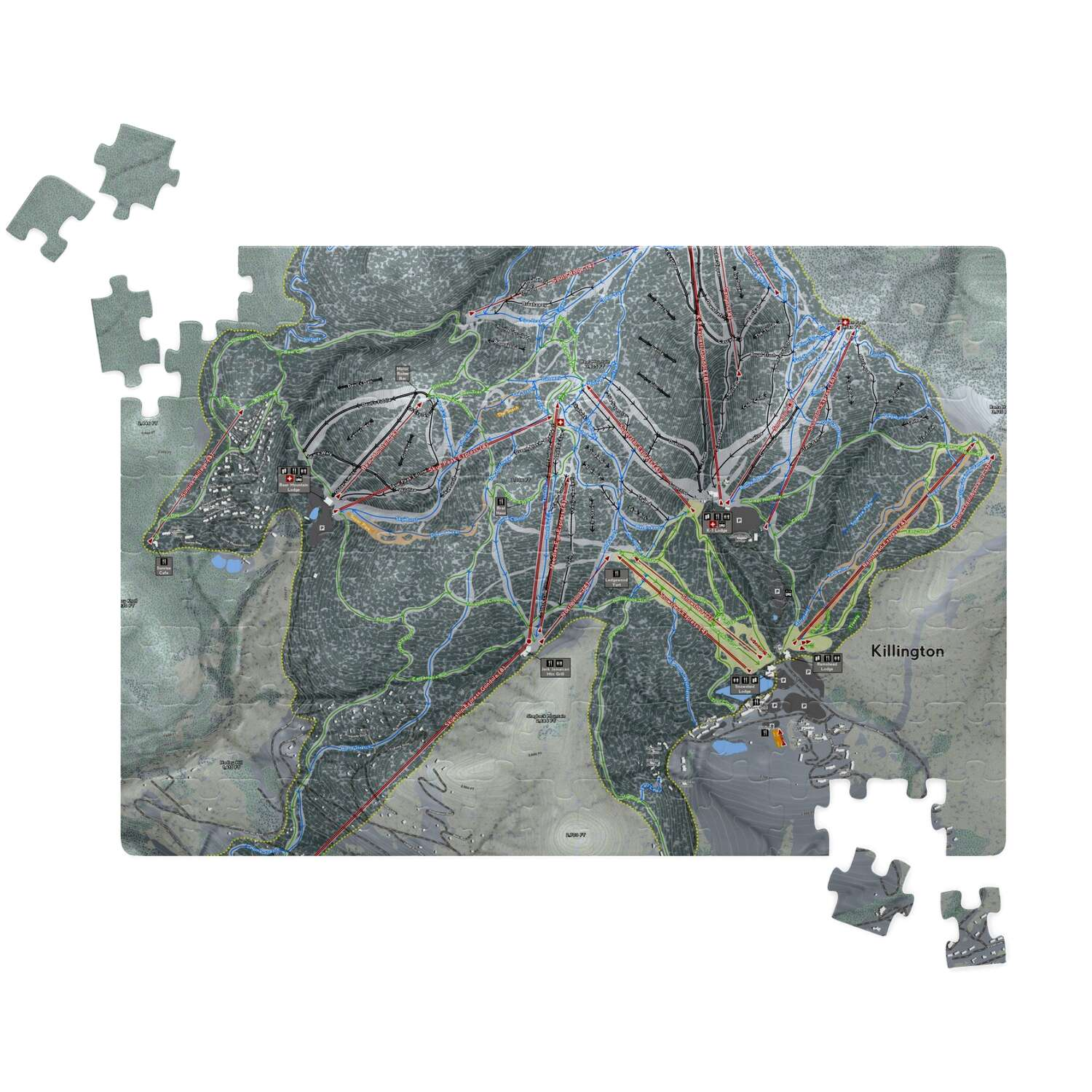 Killington Vermont Ski Resort Map Puzzle