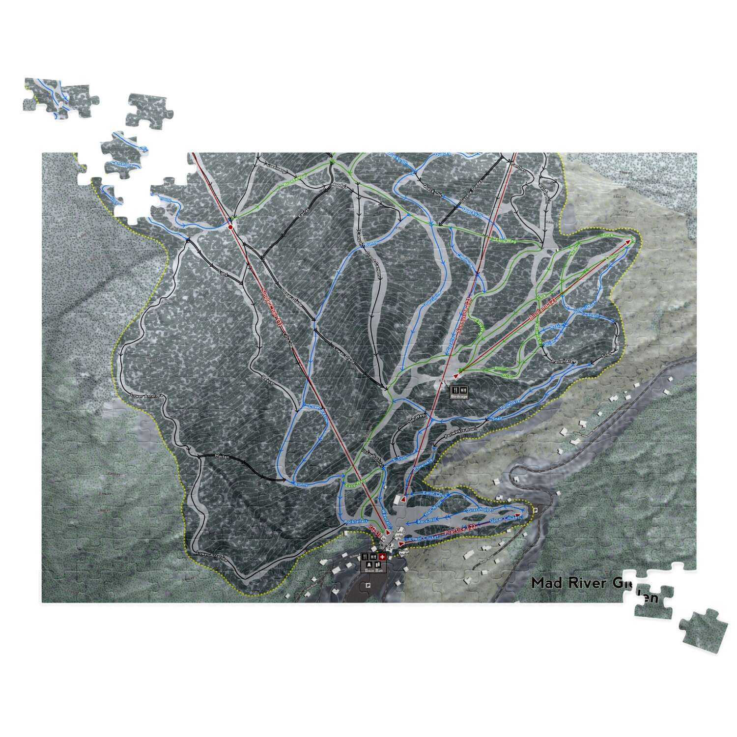Mad River Glen, Vermont Ski Resort Map Puzzle