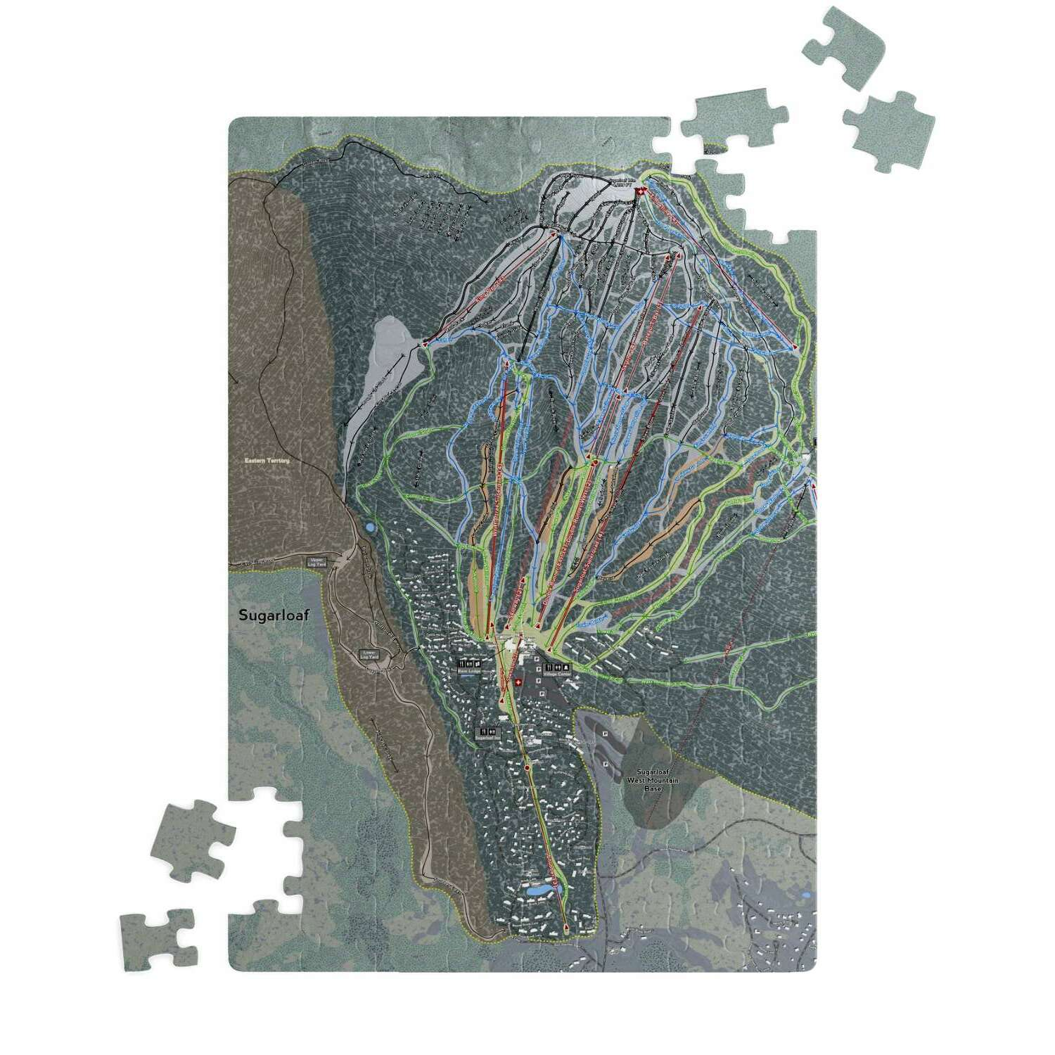 Sugarloaf, Maine Ski Resort Map Puzzle