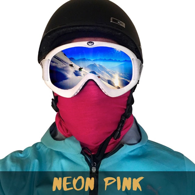 Neon Pink Fleece Ski Gaiter - Powderaddicts