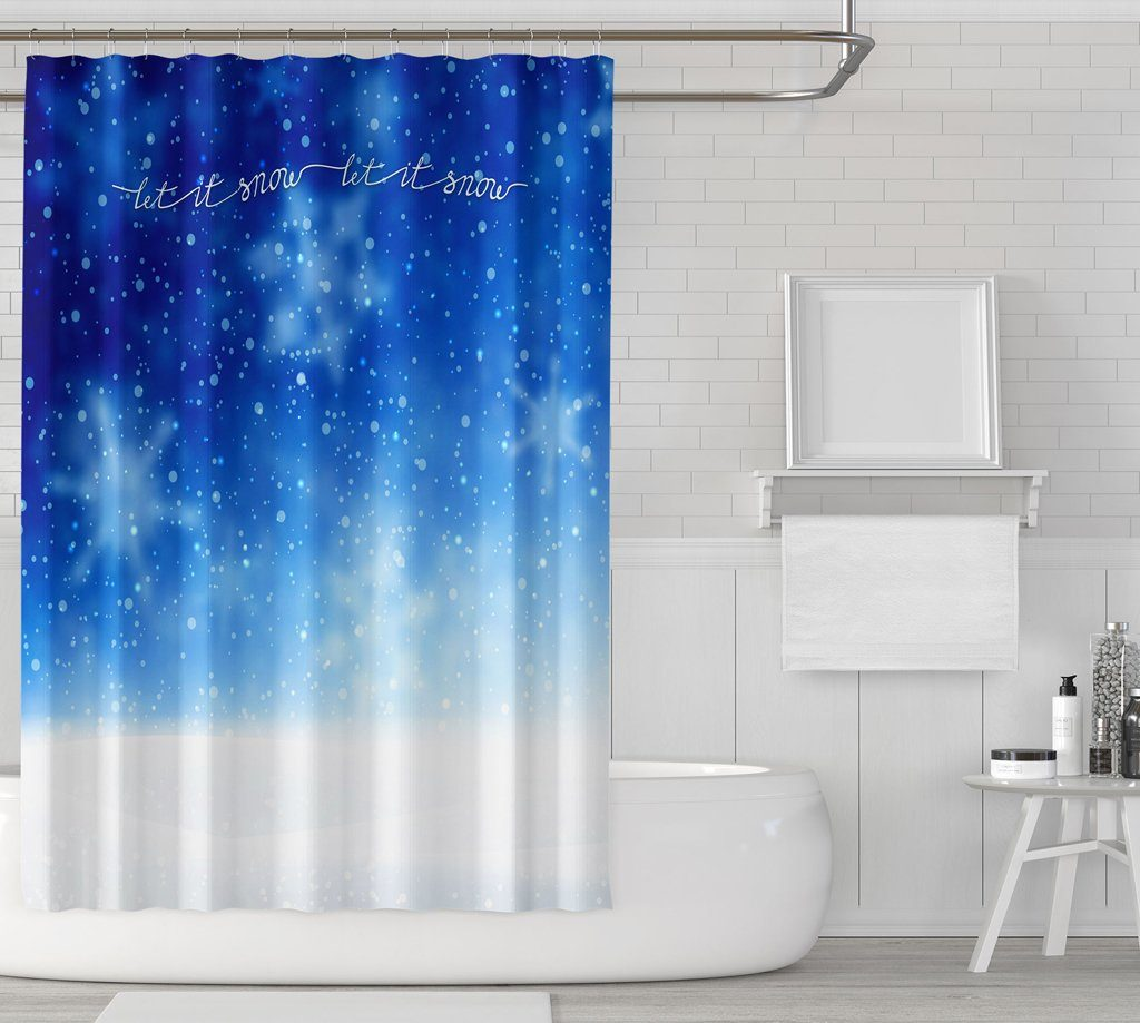 Let It Snow Shower Curtains - Powderaddicts