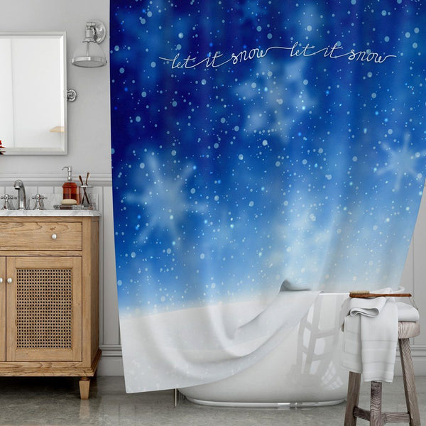 Let It Snow Shower Curtains