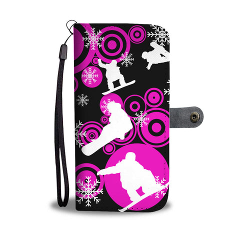 Snowboarders' Groove Phone Wallet Case - Powderaddicts