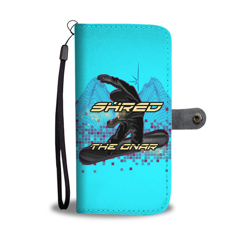 Shred The Gnar Aqua Phone Wallet Case - Powderaddicts