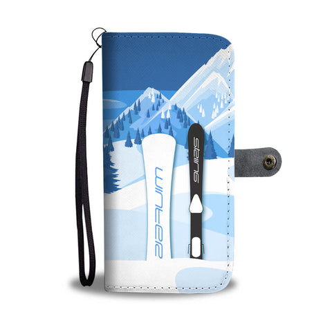 Winter Sports Phone Wallet Case - Powderaddicts