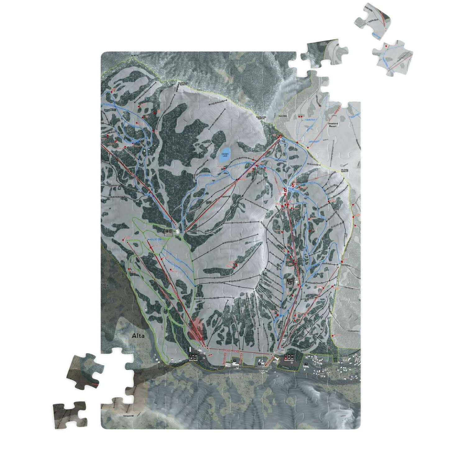 Alta, Utah Ski Resort Map Puzzle