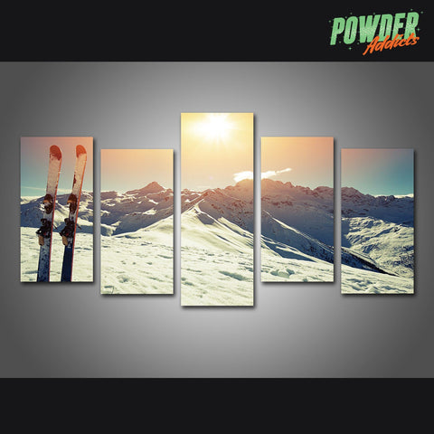 Powder Paradise 5 Piece Canvas - Powderaddicts
