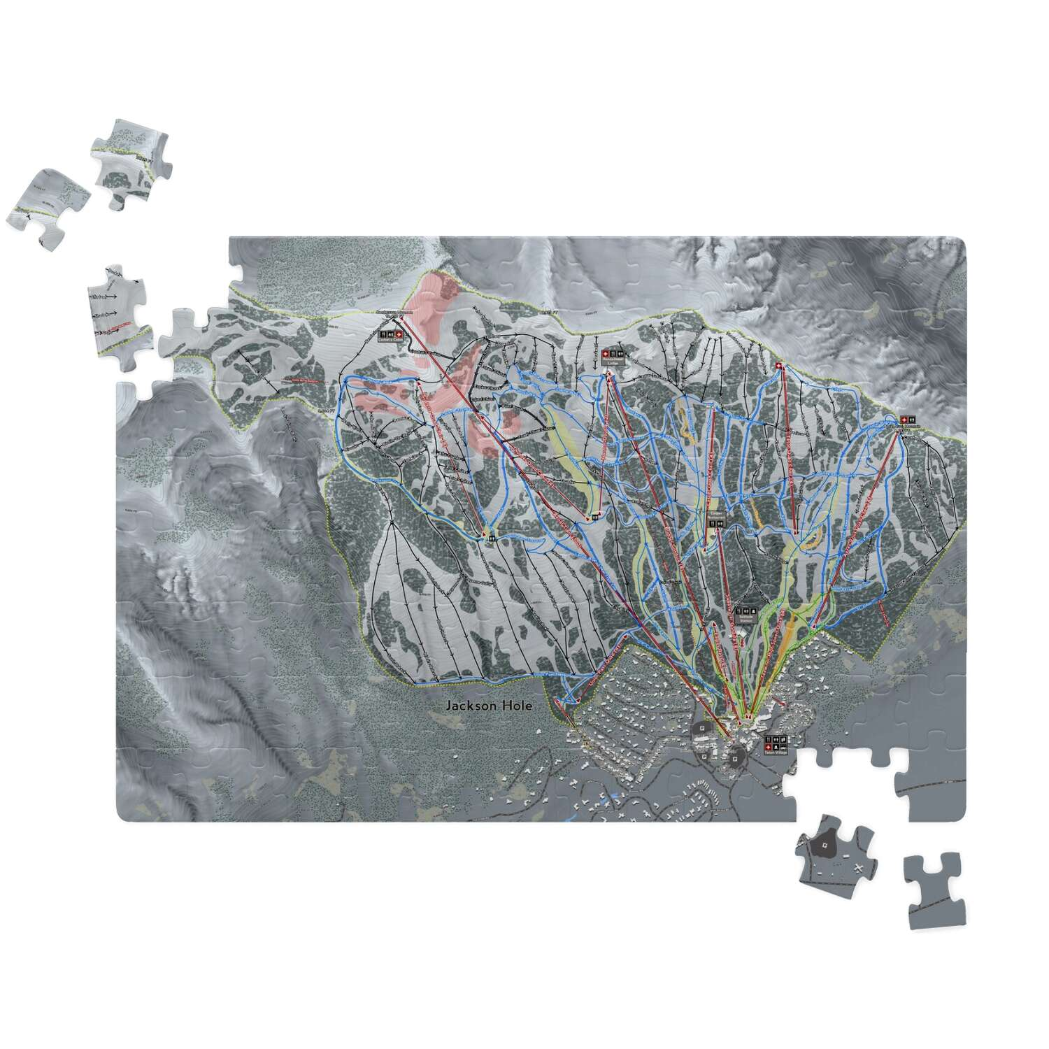 Jackson Hole, Wyoming Ski Resort Map Puzzle