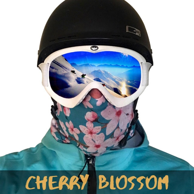 Cherry Blossom Fleece Ski Gaiter - Powderaddicts