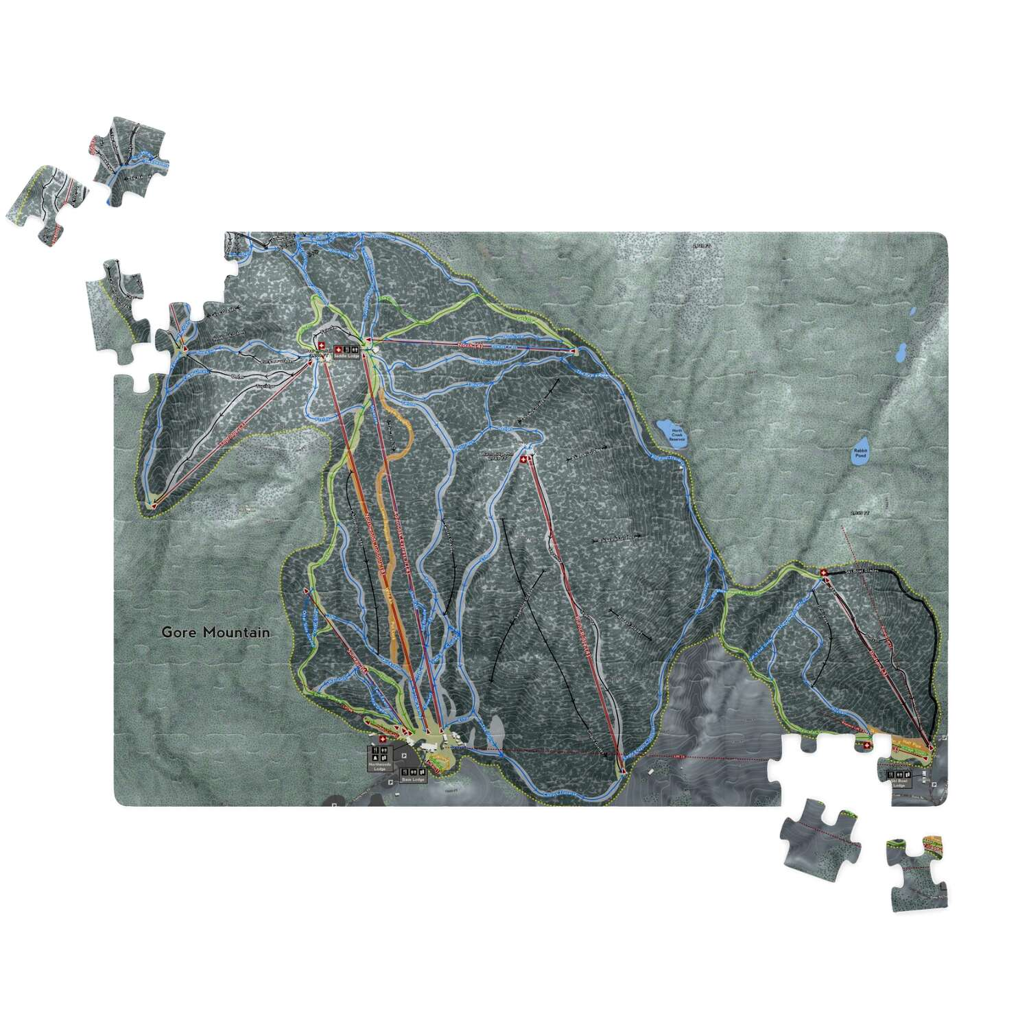 Gore Mountain New York Ski Resort Map Puzzles