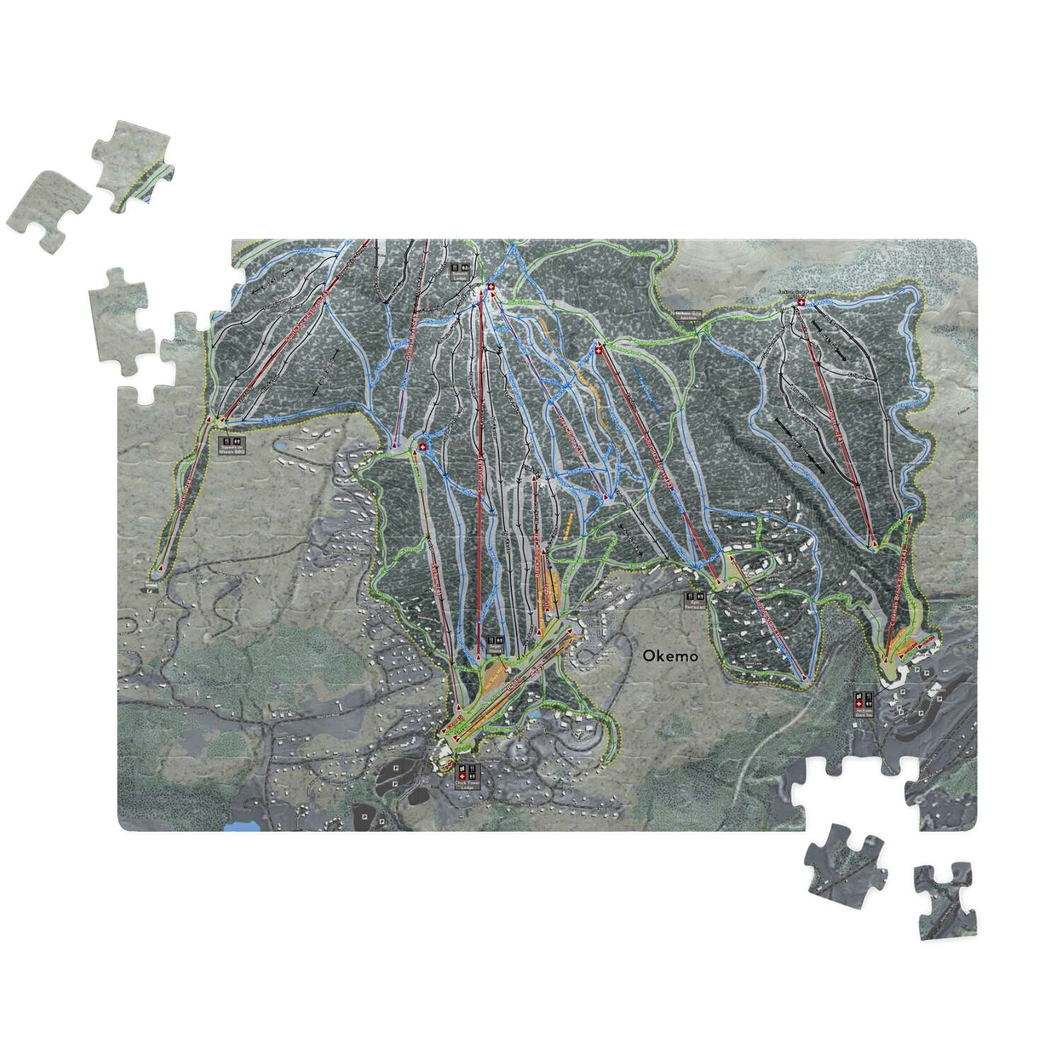 Okemo Vermont Ski Resort Map Puzzle