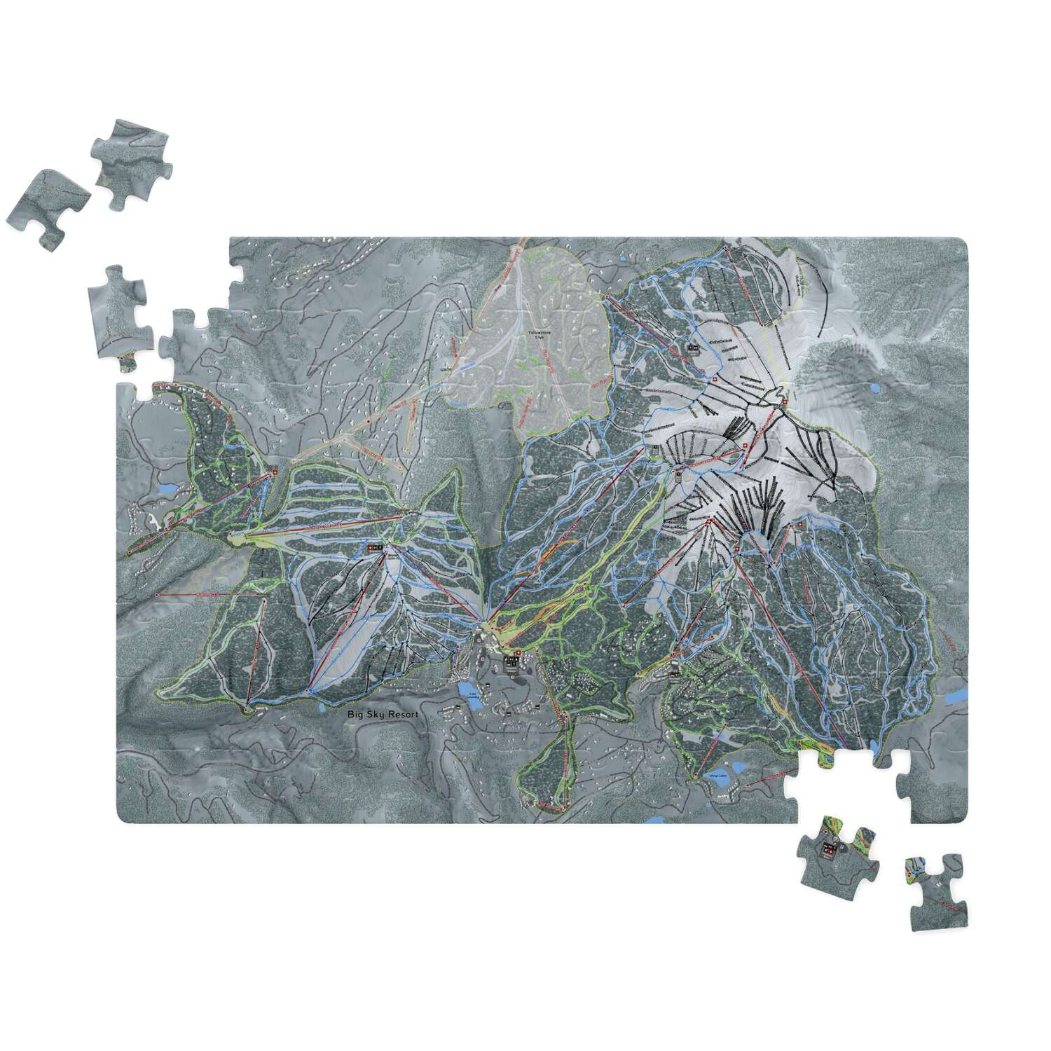 Big Sky Montana Ski Resort Map Puzzle