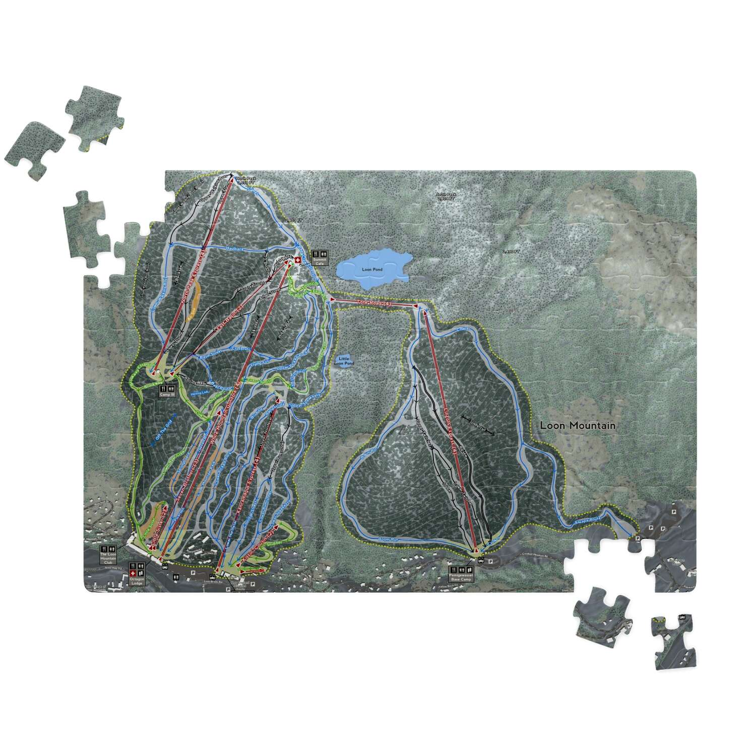 Loon Mountain New Hampshire Ski Resort Map Puzzles