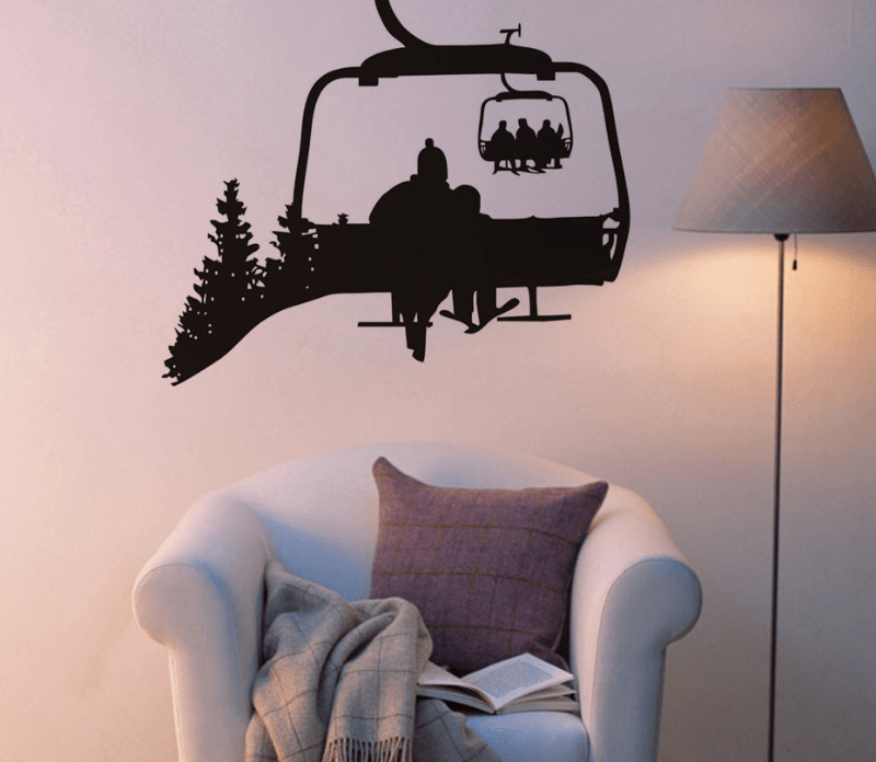 Chairlift Life Wall Decal