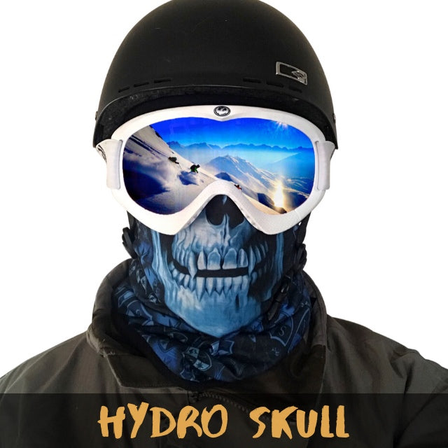 Hydro Skull Fleece Ski Gaiter - Powderaddicts