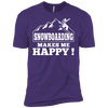 Snowboarding Makes Me Happy Next Level Unisex Tees - Powderaddicts