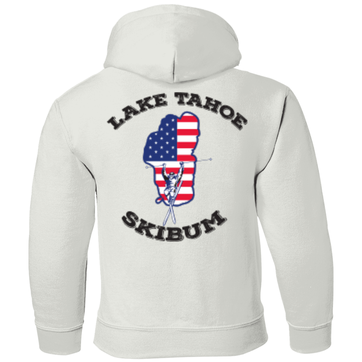 Lake Tahoe Ski Bum - Black Text - Youth Collection - Powderaddicts