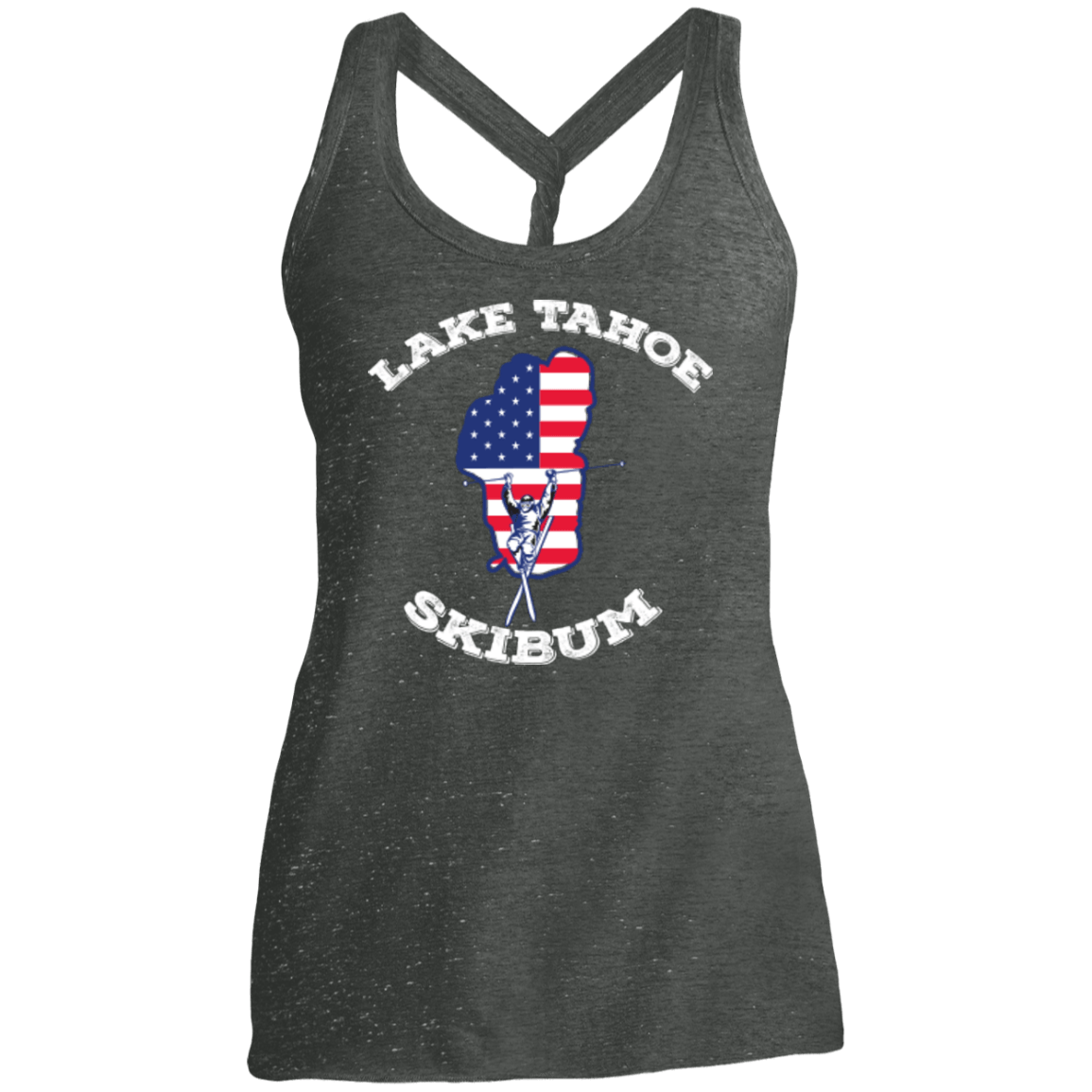 Lake Tahoe Ski Bum Tank Tops - Powderaddicts