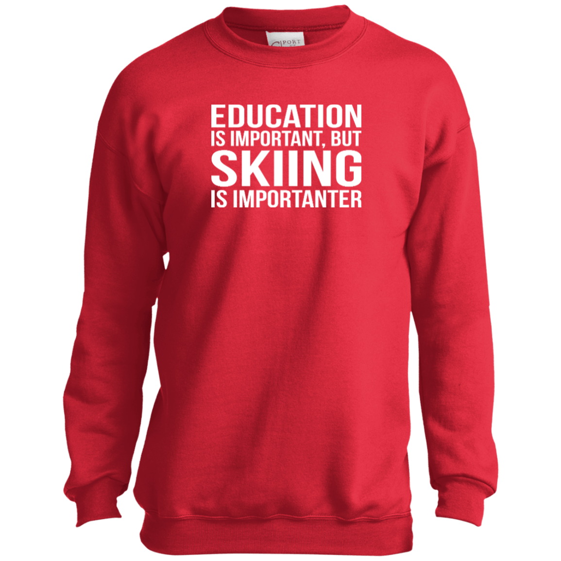 Education Is Important But Skiing Is Importanter Youth Long Sleeves - Powderaddicts