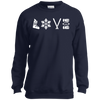 Love Ski Youth Hoodies - Powderaddicts
