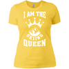 I Am The Skiing Queen White Next Level Ladies' Shirt - Powderaddicts