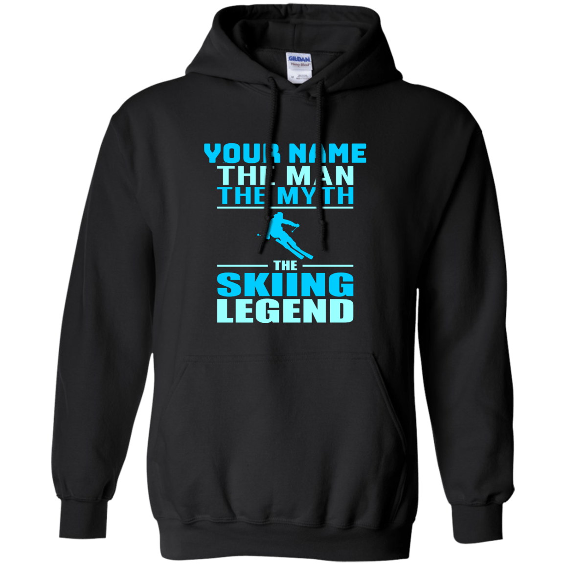 Personalized The Man The Myth The Skiing Legend Hoodies - Powderaddicts