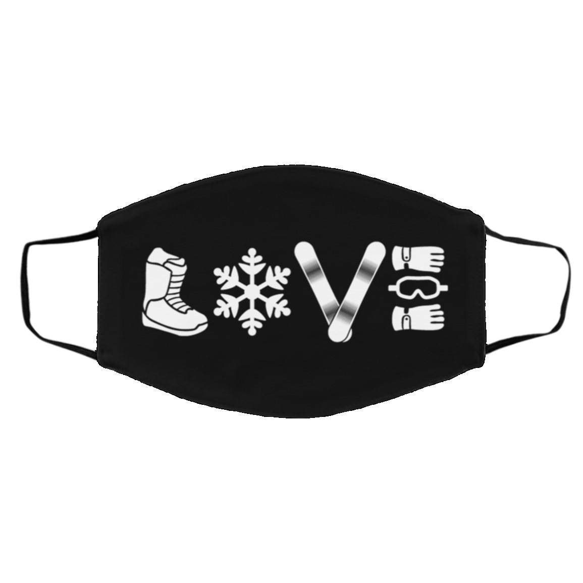 LOVE Snowboard Adult Face Mask