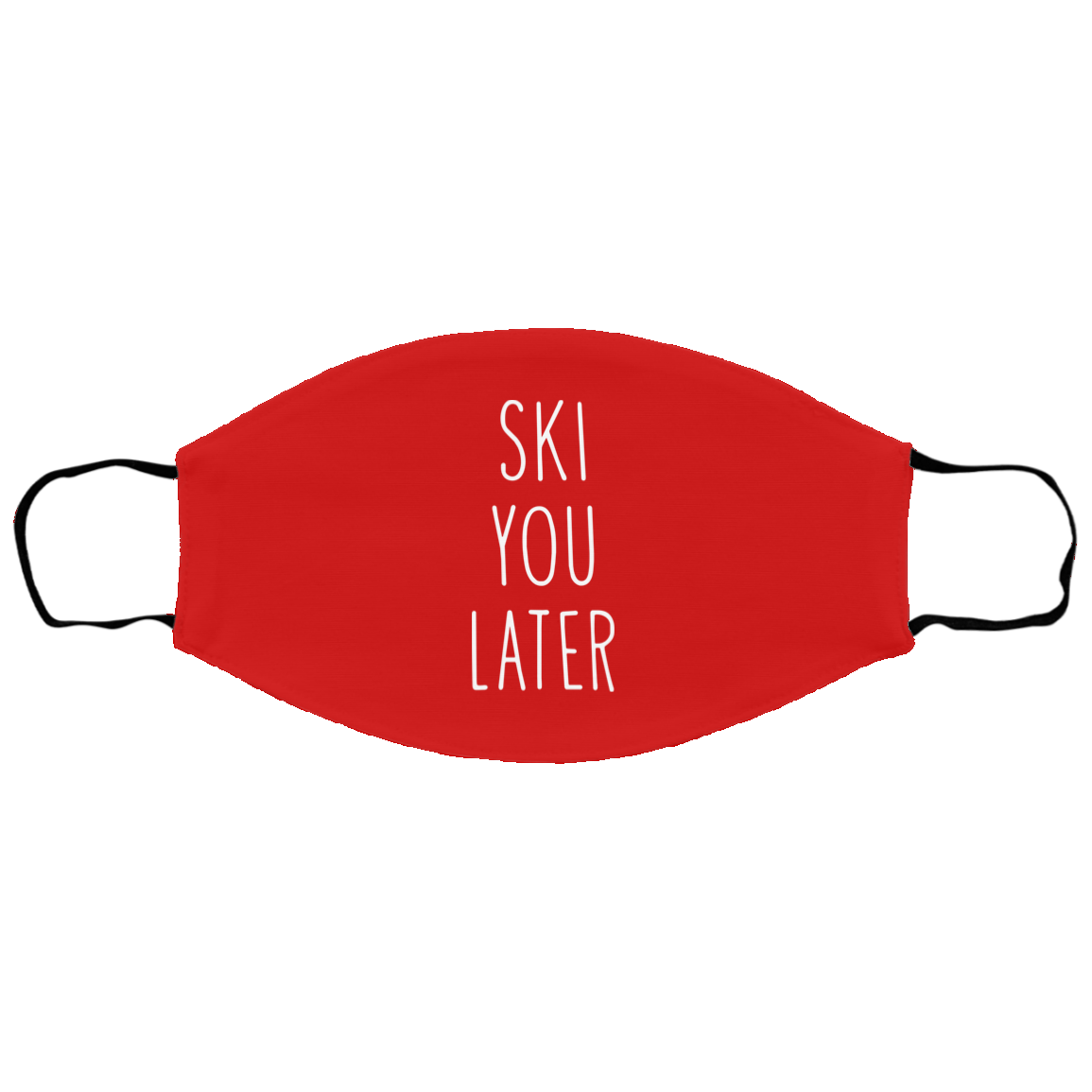 Ski You Later Youth Face Mask