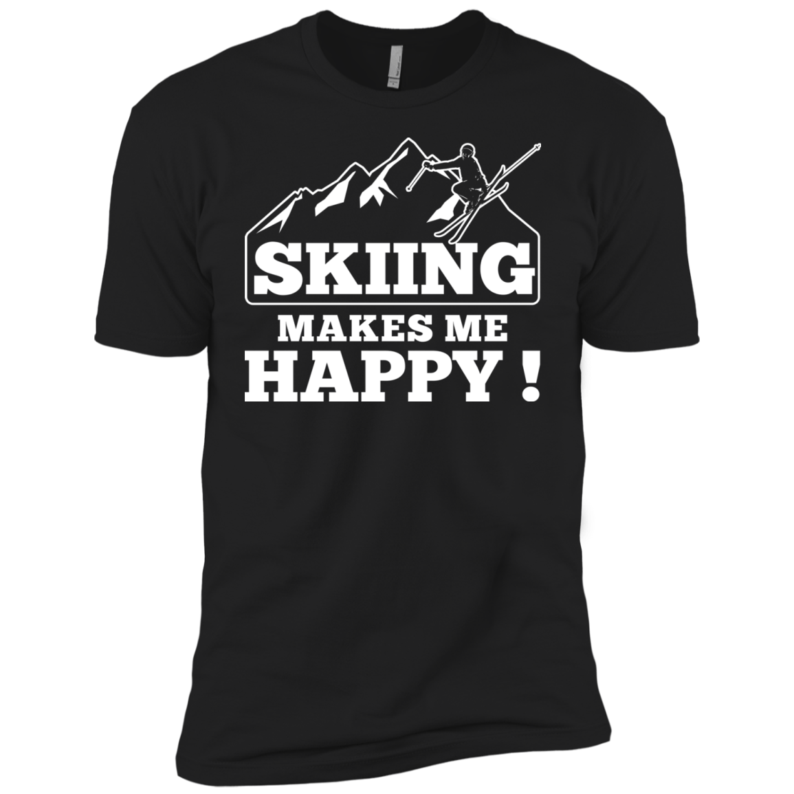 Skiing Makes Me Happy Youth T-Shirt - Powderaddicts