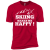 Skiing Makes Me Happy Men's Tees - Powderaddicts