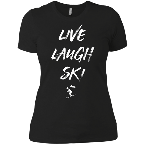 Live Laugh Ski Ladies Tees and V-Neck