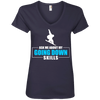 Ask Me About My Going Down Skills - Snowboard Ladies Tees and V-Neck - Powderaddicts