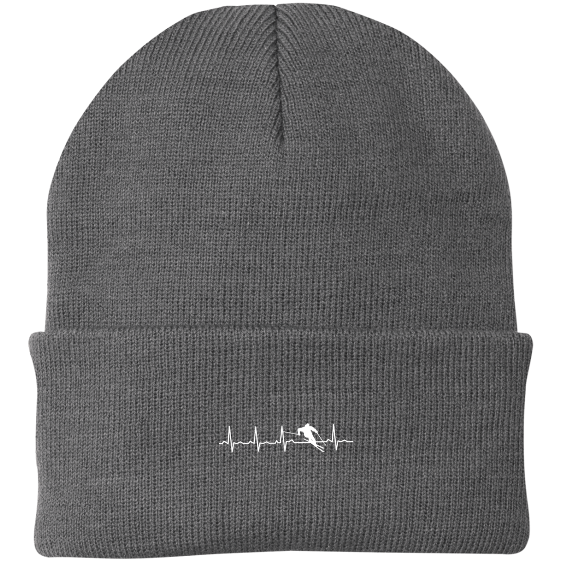 Ski is My Heartbeat Knit Cap - Powderaddicts