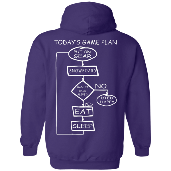 Today's Game Plan - I Snowboard Hoodies - Powderaddicts