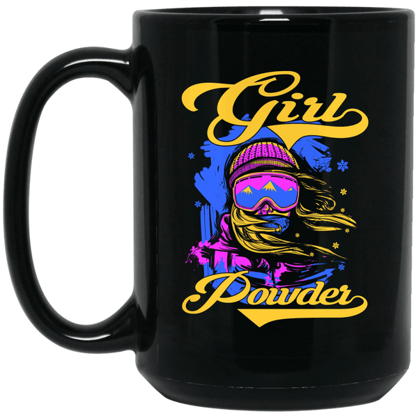 Girl Powder Black Mug