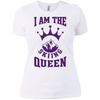 I Am The Skiing Queen Purple Next Level Ladies' Shirt - Powderaddicts