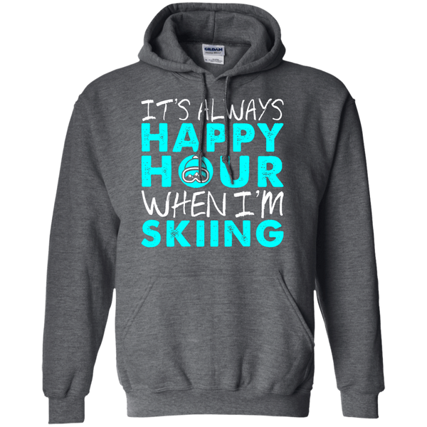 It's Always Happy Hour When I'm Skiing Hoodies