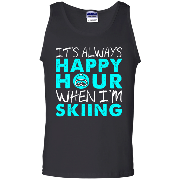 It's Always Happy Hour When I'm Skiing Tank Tops
