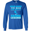 Personalized The Man The Myth The Skiing Legend Long Sleeves - Powderaddicts