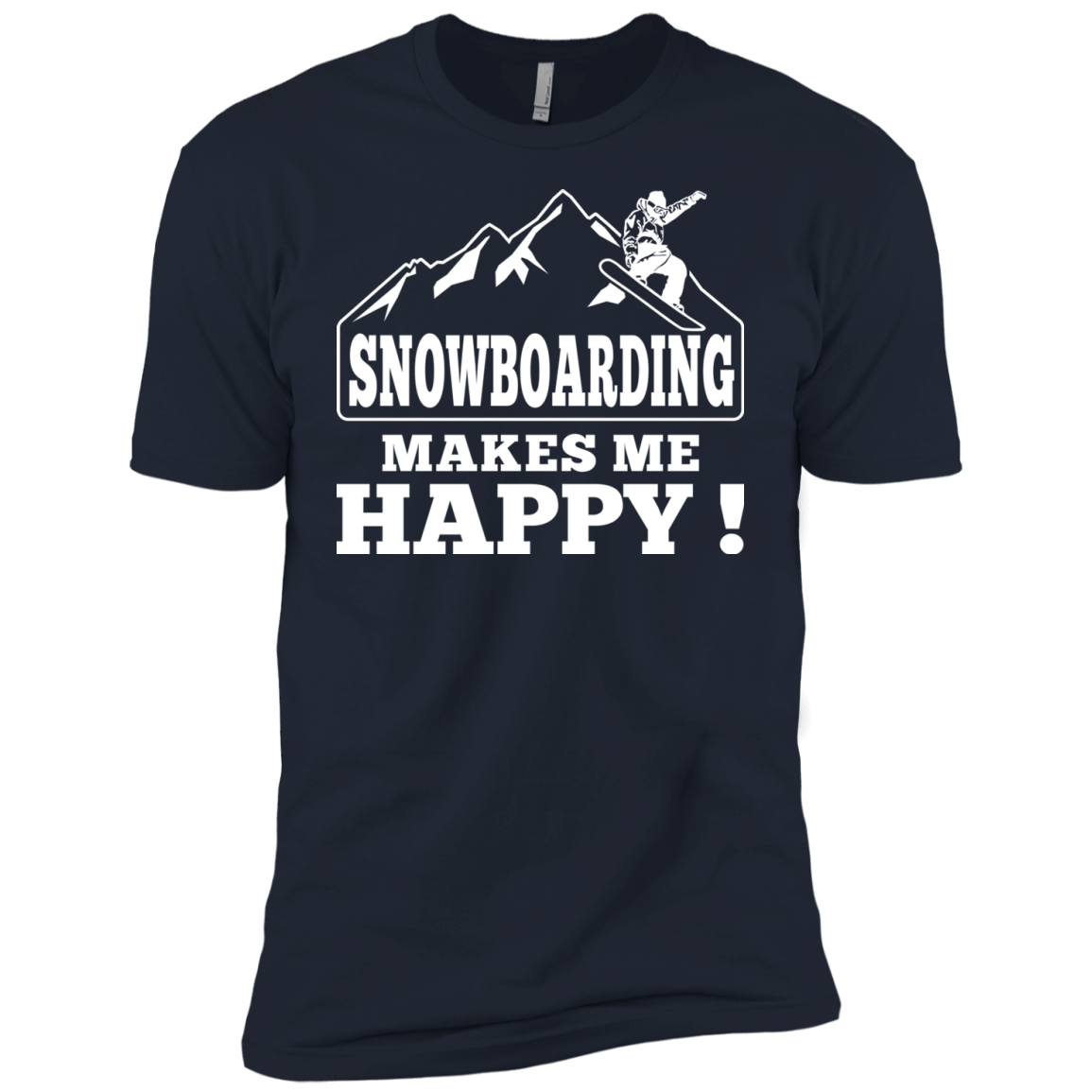 Snowboarding Makes Me Happy Youth T-Shirt - Powderaddicts