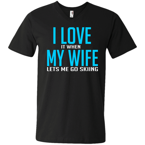 I Love It When My Wife Lets Me Go Skiing Tees and V-neck