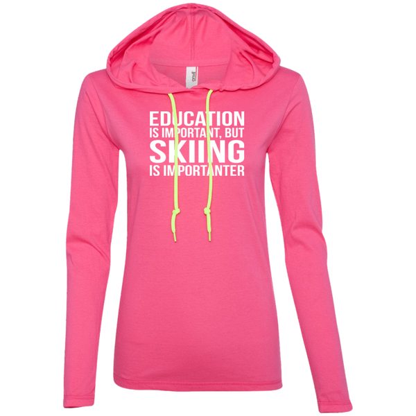 Education Is Important But Skiing Is Importanter Hoodies