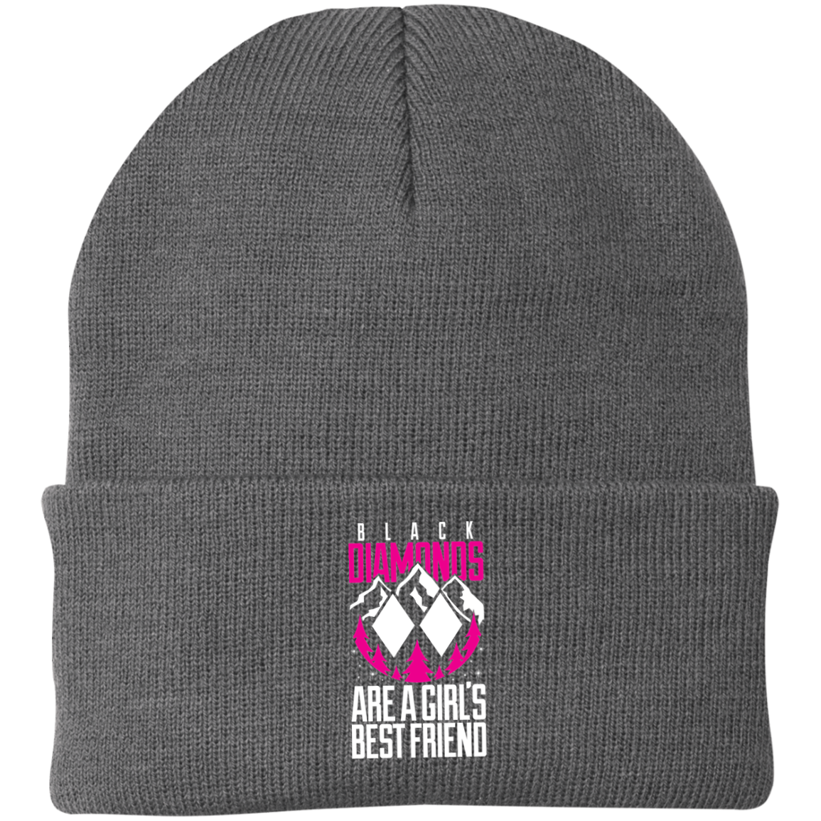 Black Diamonds Are A Girls Best Friend Knit Cap - Powderaddicts