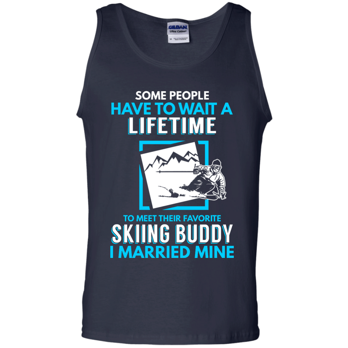 Skiing Dad Buddy - I Married Mine Tank Tops - Powderaddicts