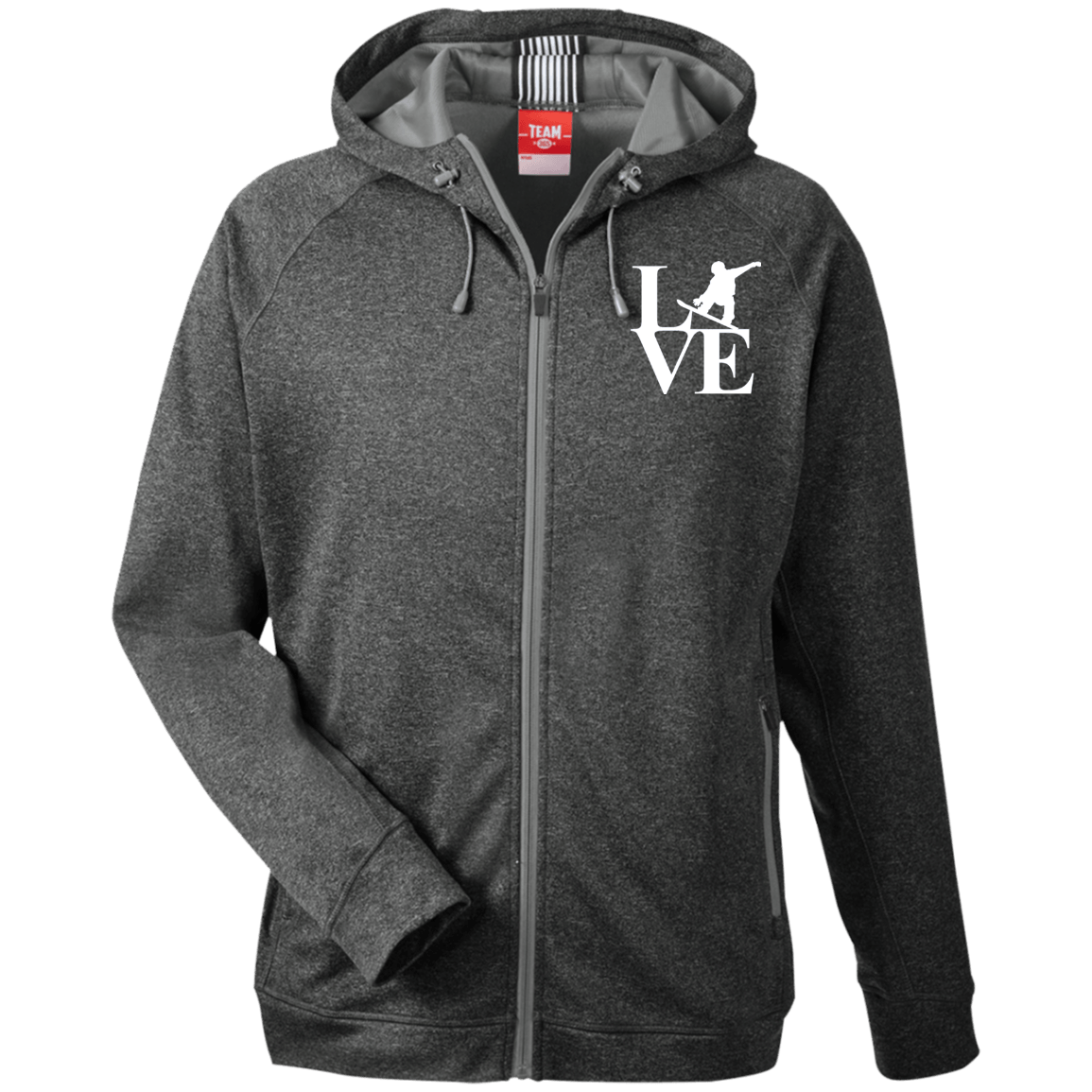Love Snowboard Men's Zip Jacket - Powderaddicts