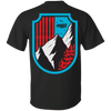 Ski Flag Men's Tees and V-Neck - Powderaddicts