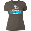 Ask Me About My Going Down Skills - Ski Ladies Tees and V-Neck - Powderaddicts